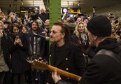 Berlin Commuters Surprised as U2 Duo Step Off U2 Line for Surprise U-Bahn Gig