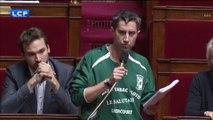 """Assemblée : Ruffin (LFI) """"rappelé à l'ordre"""" après avoir porté un maillot de foot dans l'hémicycle"""