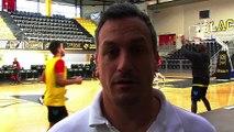 L'entraîneur de Fos Provence Basket avant la réception de Roanne