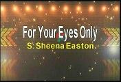 Sheena Easton For Your Eyes Only Karaoke Version