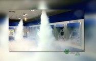 Bancos usam gerador de neblina para evitar explosões de caixas eletrônicos