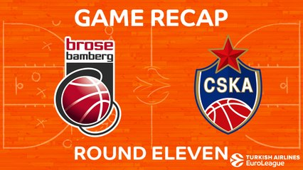 EuroLeague 2017-18 Highlights Regular Season Round 11 video: Bamberg 76-92 CSKA Moscow