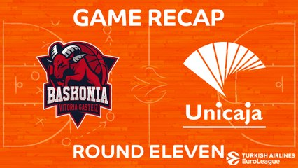 EuroLeague 2017-18 Highlights Regular Season Round 11 video: Baskonia 88-82 Unicaja