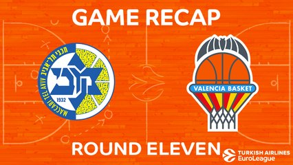 EuroLeague 2017-18 Highlights Regular Season Round 11 video: Maccabi 94-91 Valencia