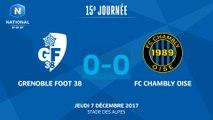 J15 - Grenoble Foot38 - FC Chambly (0-0), le résumé