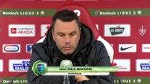 Réaction de Jean-Marc Furlan et Hervé Della Maggiore après Stade Brestois 29 - Bourg-en-Bresse