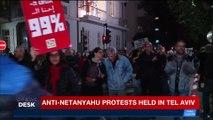 i24NEWS DESK | Anti-Netanyahu protest held in Tel Aviv | Saturday, December 9th 2017