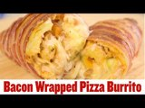 Super Snack Recipes: Bacon Wrapped Pizza Burritos