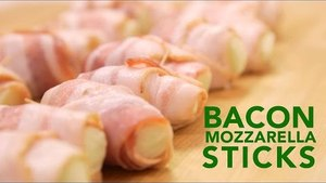 Easy Recipes: Cheesy Bacon Wrapped Mozzarella Sticks