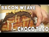 DON'T BE JEALOUS, We Made a Bacon Weave Choco Taco! Here's how...    #foodporn