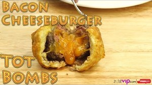 Deep Fried Fun Foods! How to Make Bacon Wrapped Cheeseburger Tater Tot BOMBS   Food Porn