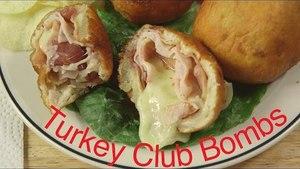 Bacon Turkey Club Sandwich Bombs   Sandwich Bombs Recipe
