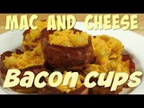 Easy Recipe for Baked Macaroni and Cheese: Mac and Cheese Bacon Cups Cheese Bacon Cups   Food Porn
