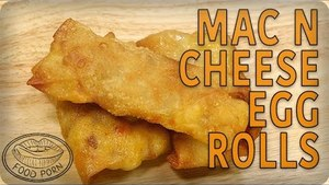 National Macaroni Day Recipes: Mac 'n Cheese and Bacon Egg Rolls | #foodporn