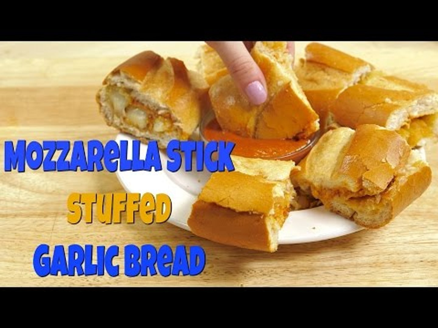 How to Make: Garlic Bread Mozzarella Stick Sandwich | Food Porn