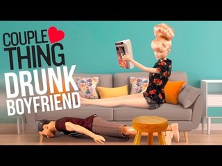When Your Boyfriend Comes Home Drunk... Barbie vs Ken | CoupleThing