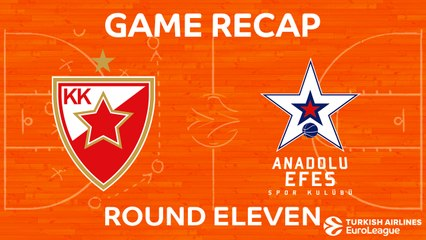 EuroLeague 2017-18 Highlights Regular Season Round 11 video: Zvezda 100-81 Efes