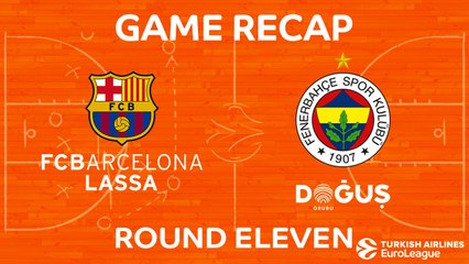 EuroLeague 2017-18 Highlights Regular Season Round 11 video: Barcelona 68-83 Fenerbahce