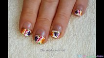 Wide FRENCH MANICURE With FLORAL NAIL ART Design-9TxQHiC3tX4