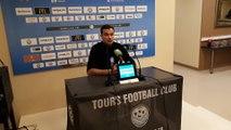 Le coach de l'ASNL Vincent Hognon en interview après la victoire à Tours