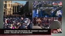 Hommage à Johnny Hallyday : L'émotion des musiciens du chanteur en répétition dans l'église de la Madeleine (vidéo)