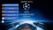 Champions League Round of 16 draw 2017 DRAW POTS & POSSIBLE OPTIONS