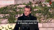L'hommage d'Emmanuel Macron à Johnny Hallyday