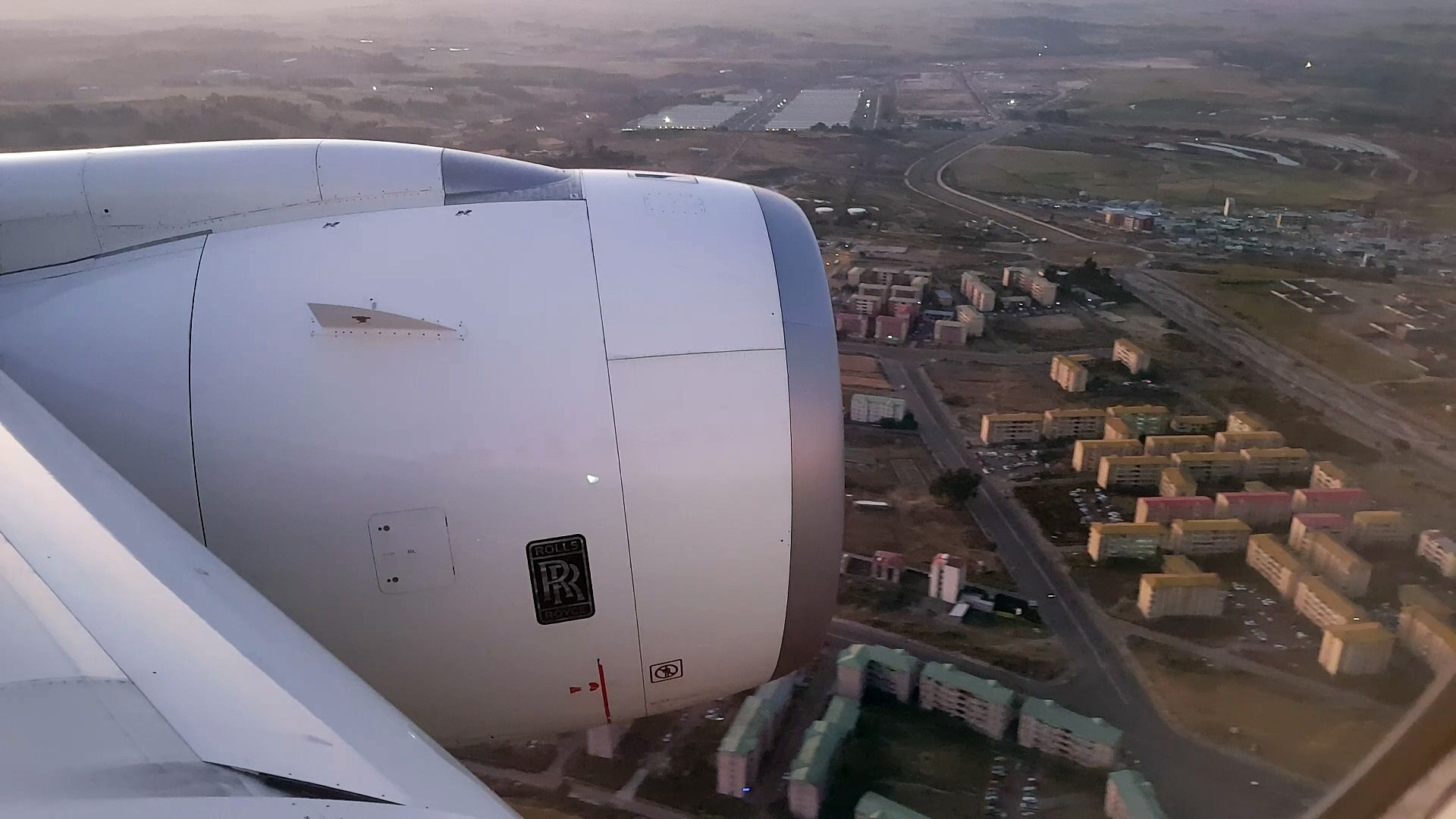 Landing at Addis Ababa - Ethiopian Airlines flight from Frankfurt to Addis Ababa - Airbus A350-900
