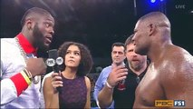 Deontay Wilder and Luis Ortiz Going at it Post Fight