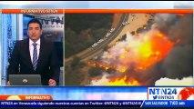 Bomberos de California logran avances en la lucha contra el intenso fuego que consume algunas zonas forestales