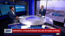 Palestinian media reporting that an Israeli strike has killed two terrorists in the Gaza strip