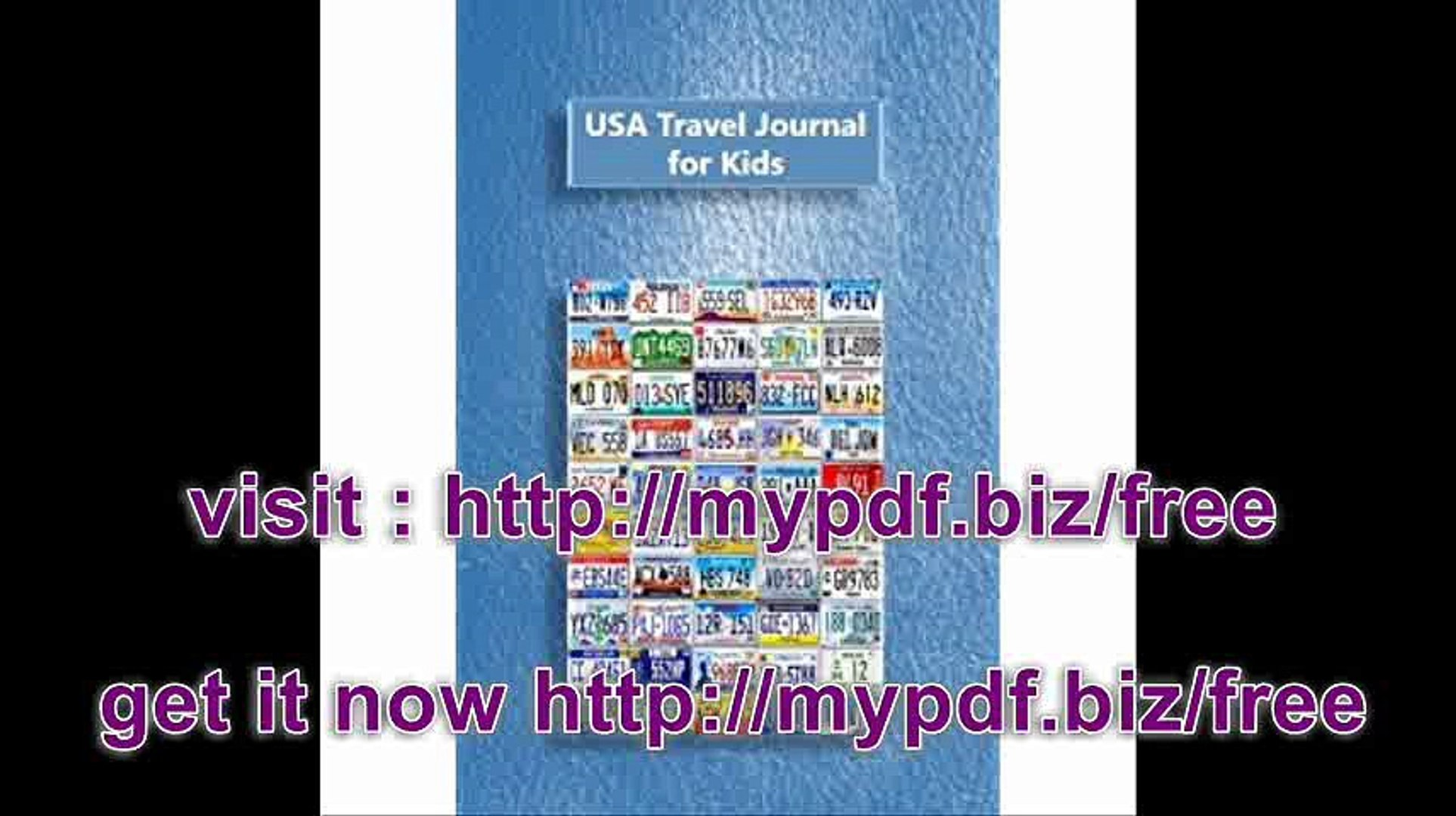 USA Travel Journal for Kids