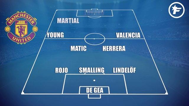Les compos probables de Manchester United - Manchester City
