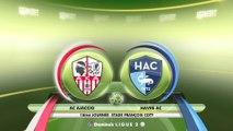 Résumé de AC Ajaccio - HAC (1-0) du 09/12/2017