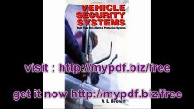 Vehicle Security Systems Build Your Own Alarm and Protection Systems