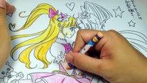 魔法使いプリキュアぬりえ クレヨン練習 2 -  Coloring Maho GIRLS