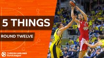 Turkish Airlines EuroLeague, Regular Season Round 12: 5 Things to Know