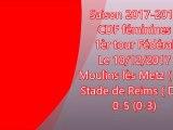 2017  CDFT1 Féminines  MOULINS LES METZ REIMS 0-5, le 10/12/2017