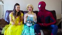 #12Frozen Elsa CLOTHES SWAP CHALLENGE w  Spiderman Belle Anna Rapuntzel Fun Superhero in real life (2) | Superheroes | Spiderman | Superman | Frozen Elsa | Joker
