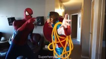 #13Spiderman, Frozen Elsa & Captain america girl VS Joker! Superhero Fun in real life! and Color (2) | Superheroes | Spiderman | Superman | Frozen Elsa | Joker
