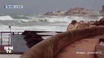 À Nice et Marseille, de fortes vagues s'abattent sur le littoral