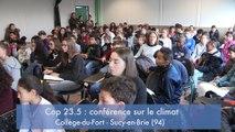 #EDD Des élèves du collège du Fort à Sucy-en-Brie simulent une conférence climatique
