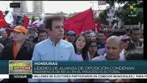 Manifestantes hondureños denuncian violación de los DD.HH.