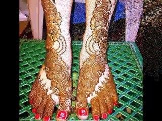 latest Beautiful wedding mehndi designs for feet