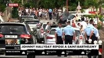Les larmes de la famille de Johnny cette nuit lors de son inhumation au cimetière de Lorient à Saint-Barthélémy