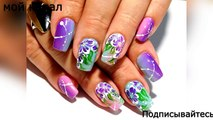 Beautiful and simple nail design. TOP amazing nail designs Flowers-3X20kPkBzMs