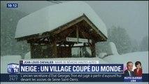 Dans les Hautes-Alpes, un village est coupé du monde par la neige
