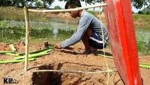 Primitive Man Make Best Crocodile Trap Using Plastic Cover - Amazing crocodile Trap in Deep Hole
