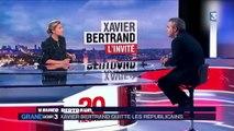 """Les Républicains : Bertrand s'en va, Wauquiez """"respecte son choix"""""""
