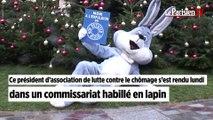 Paris :  habillé en lapin au commissariat de police